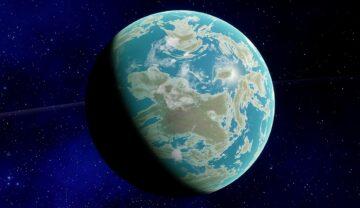 """Planeta Venus se află mai aproape de Soare decât Pământul. E considerată planeta """"geamănă"""" a Pământului. În imagine apare în nuanțe de portocaliu și galben, pe fundal negru"""